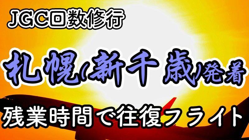 札幌(新千歳)日帰りJGC回数修行