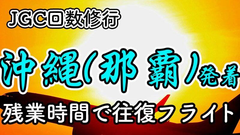 沖縄(那覇)日帰りJGC回数修行