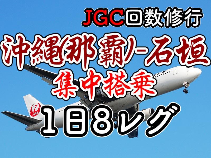 1日集中JGC回数修行 沖縄(那覇)-石垣