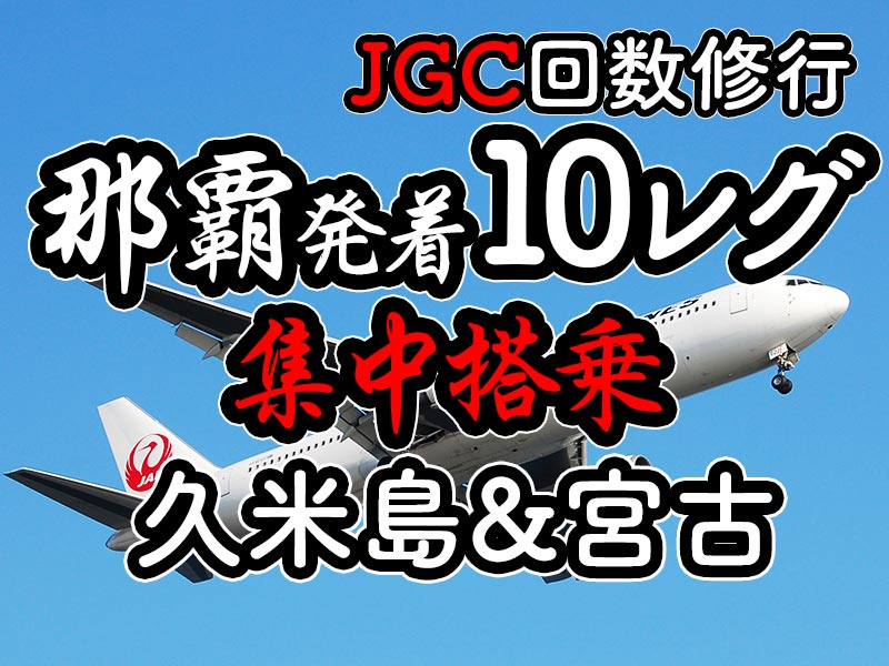 1日集中JGC回数修行 沖縄(那覇)発着-久米島・宮古