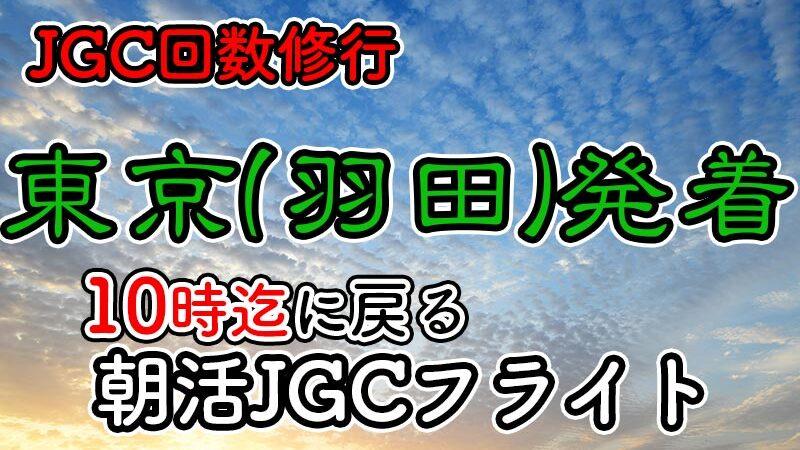 日帰りJGC回数修行 朝活羽田until10