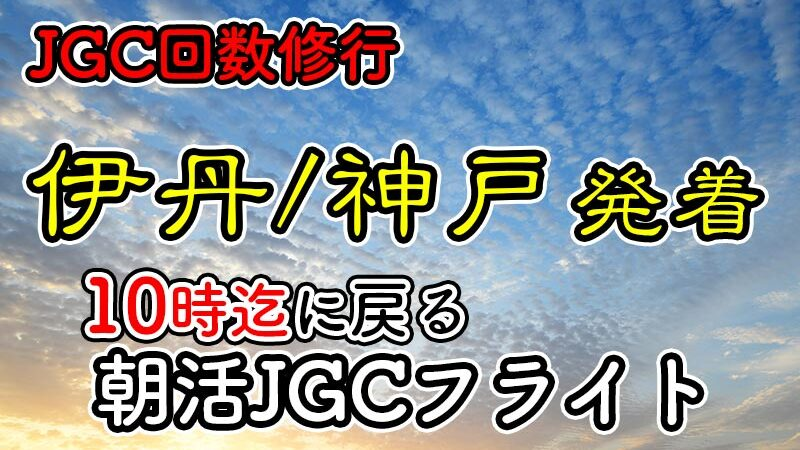 日帰りJGC回数修行 朝活伊丹神戸until10
