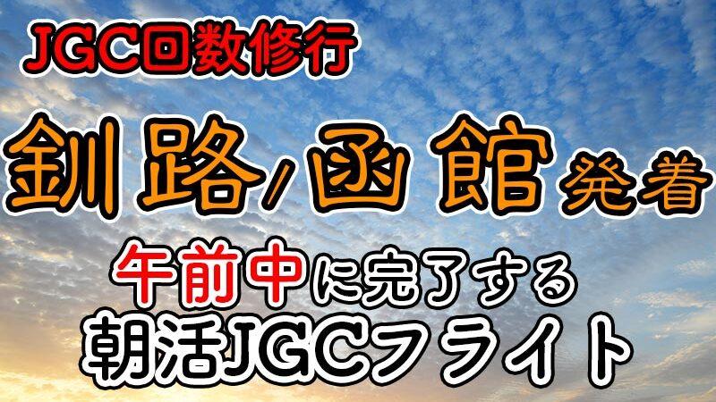 日帰りJGC回数修行 朝活北海道AM