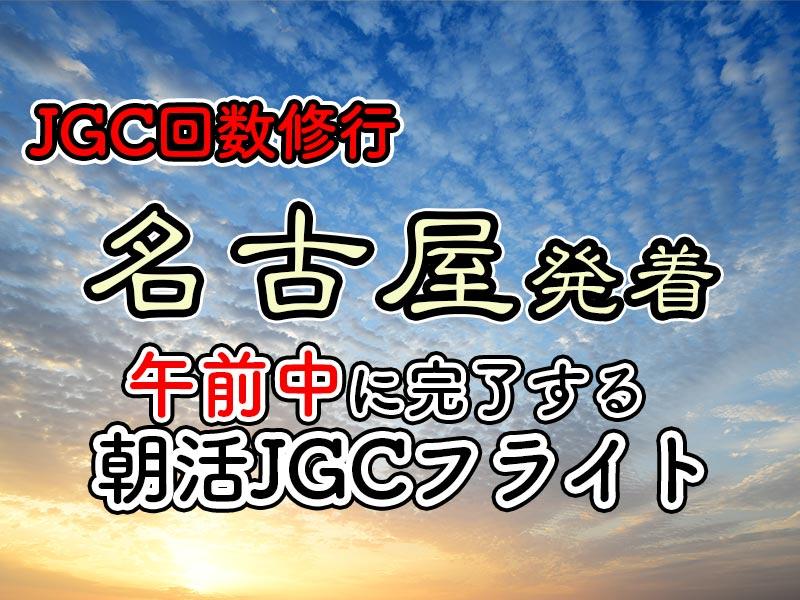 日帰りJGC回数修行 朝活名古屋AM