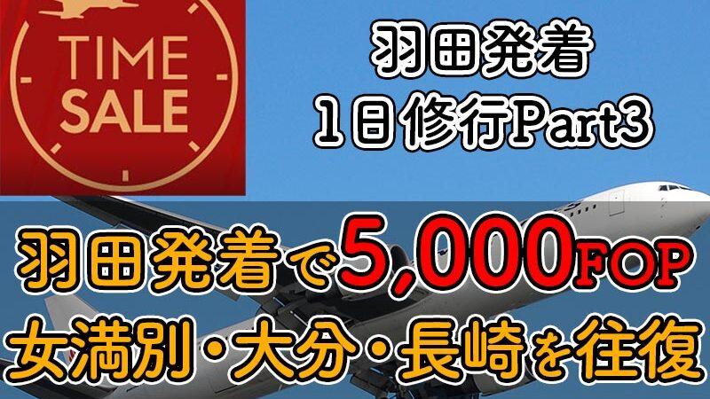 JAL国内線タイムセール0316HND1day Part3